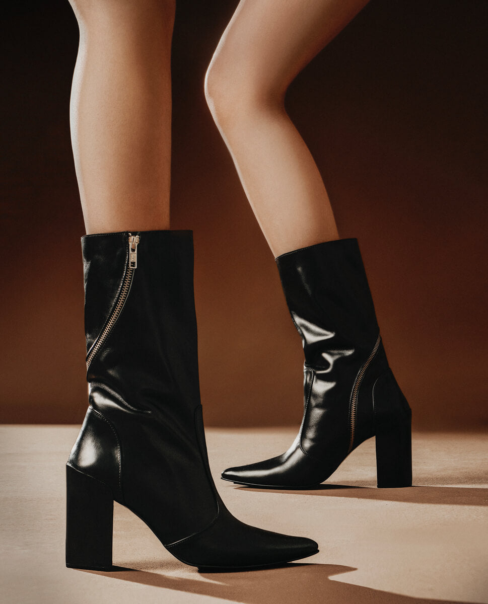 ANI LEATHER ANKLE BOOTS