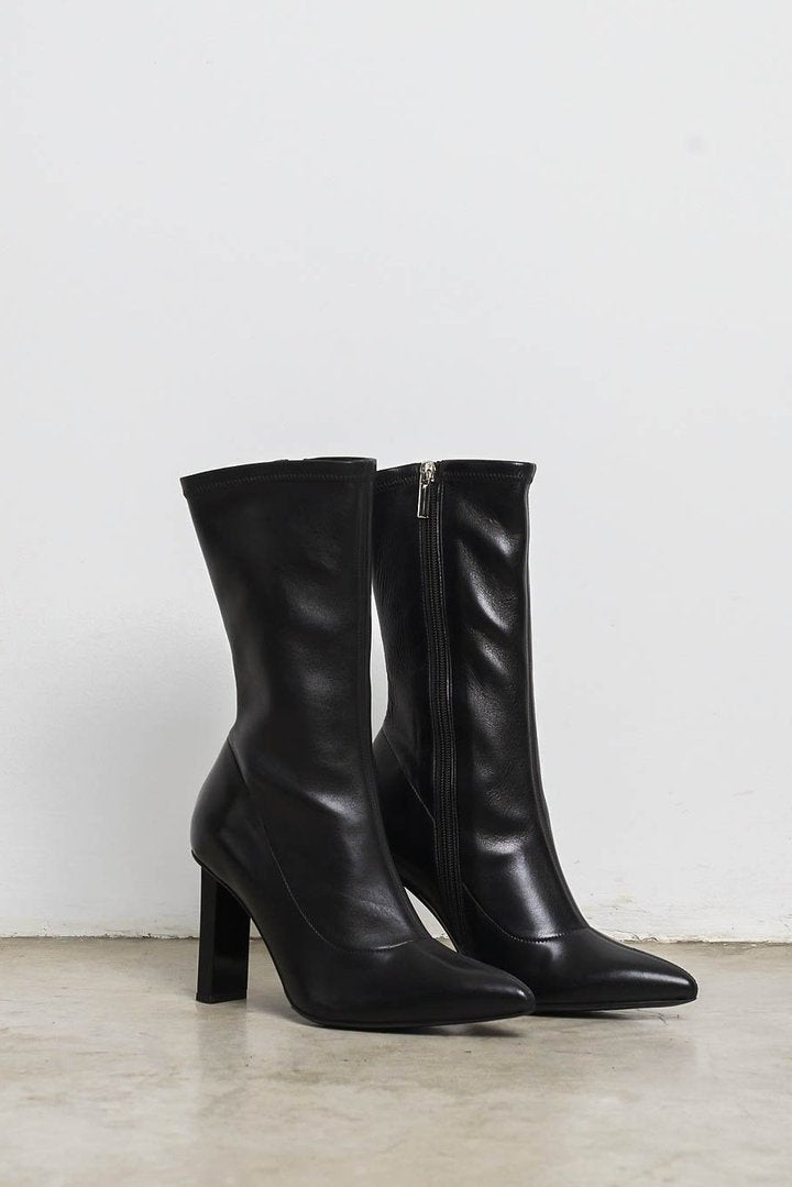 BLACK SLICE BOOTIES