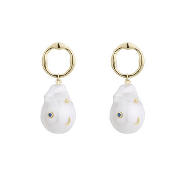 BAROQUE PEARL GALAXY EARRINGS | Eshvi | CULT MIA