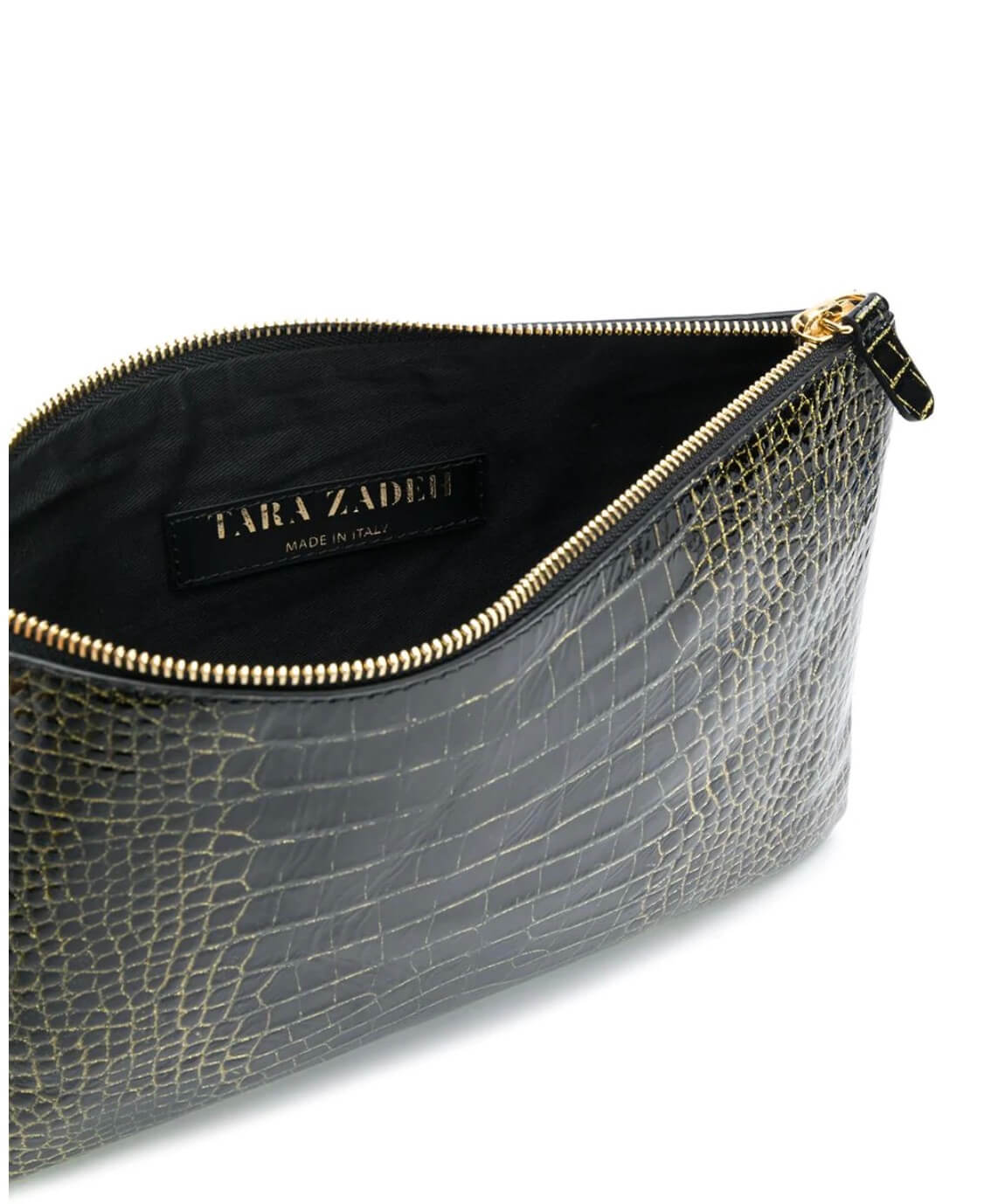 GLITTER BLACK ZIBA CLUTCH