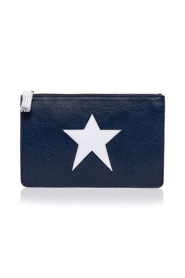 STAR LEATHER CLUTCH
