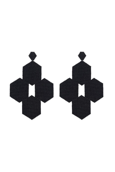 QUATREFOIL BEADED EARRINGS | Bocanegra | CULT MIA