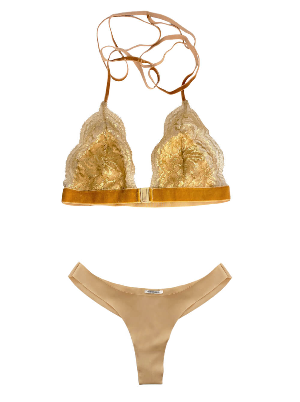 FIRENZE LACE-TRIMMED SOFT-CUP BRALETTE & ECONYL BRIEFS SET