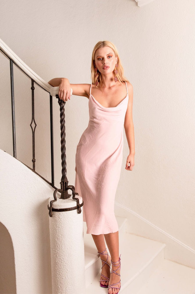 LEXI DRESS POWDER PINK