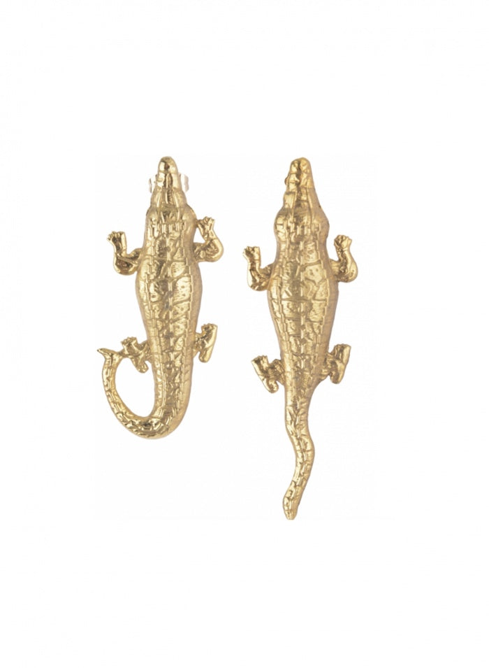 MISMATCHED CROCODILE EARRINGS