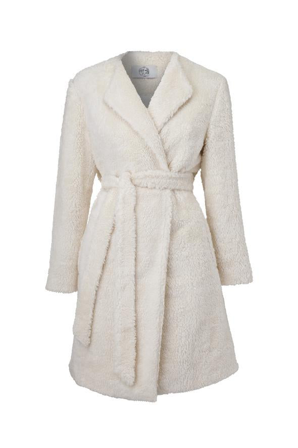 VERBENA FAUX SHEARLING COAT