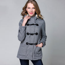 Load image into Gallery viewer, Winter Hooded Horn Button Coat