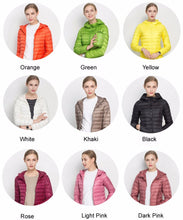 Load image into Gallery viewer, Down Hooded Ultra Light Jacket