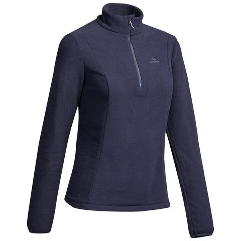 QUECHUA - MH 100 Women's Half Zip Hiking Fleece