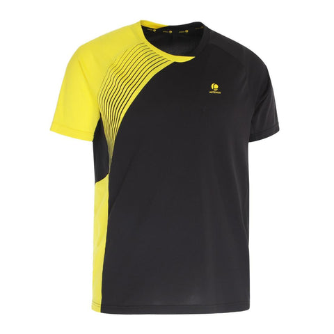 PERFLY - 830 Badminton T-Shirt - Black/Yellow