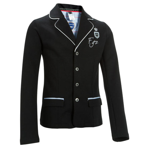 FOUGANZA - Paddock Children's Horse Riding Show Jacket - Black