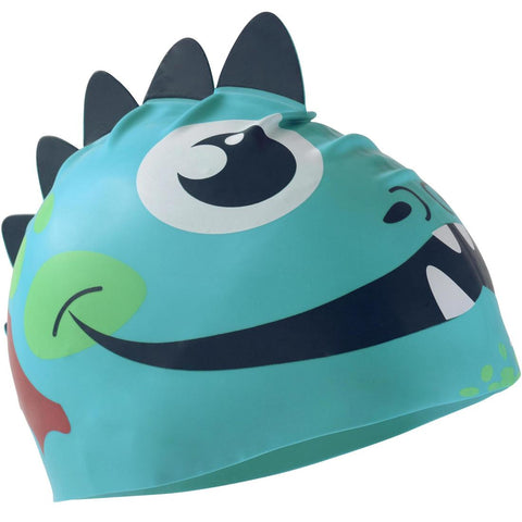 NABAIJI - Silicone Form Kids Swim Cap (Dragon/Unicorn)
