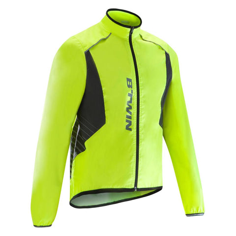B'TWIN - 500 Road Cycling and Bike Touring Showerproof Jacket