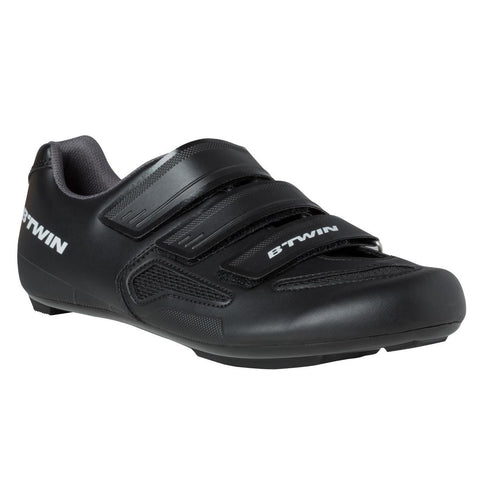 B'TWIN - Adult Road Bike Shoes - Black