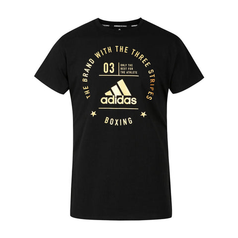 Adidas Men's BOXING T-shirt Black & Gold