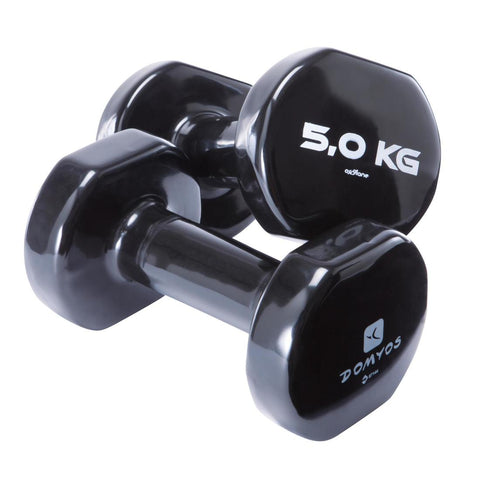 DOMYOS - Pilates & Toning Dumbbells Twin-Pack 5Kg