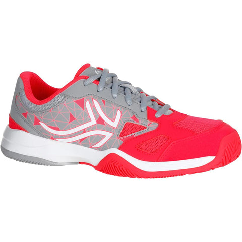 ARTENGO - TS 560 Kids Tennis Shoes (Red-Grey)