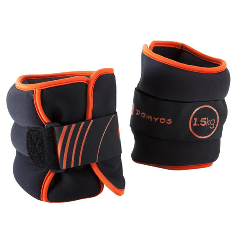 DOMYOS - Pilates Adjustable Wrist & Ankle Weights (1.5Kg)
