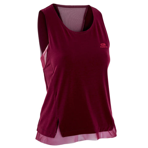 WOMEN'S RUN FEEL RUNNING TANK TOP - BURGUNDY