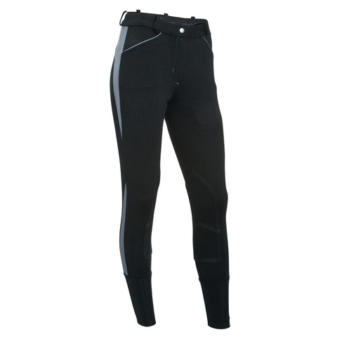 Bicolo 500 Women's Horse Riding Jodhpurs - Black/Grey,