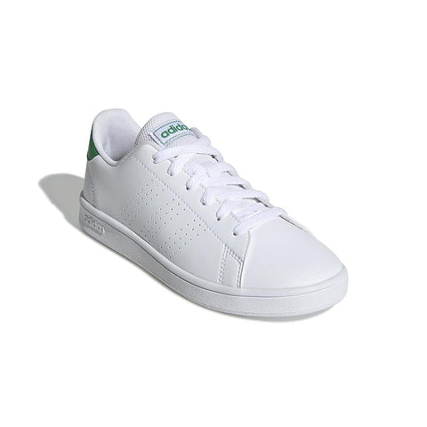 Adidas Advantage Clean Kids' Tennis Shoes - White/Green