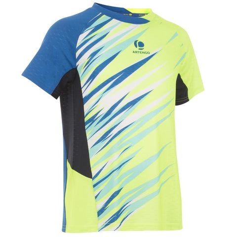 PERFLY - 860 Dry Kids' Badminton T-Shirt - Yellow