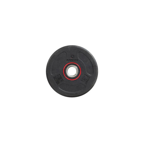 DOMYOS - Rubber Weight Disc (28mm-2.5Kg)
