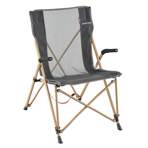 Reclining Folding Camping Chair With Armrests