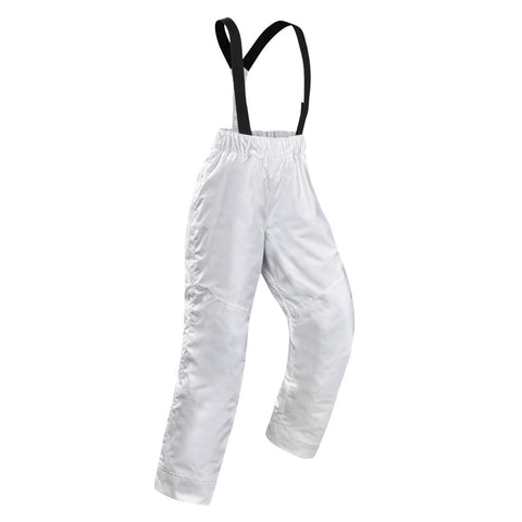 WEDZE - CHILDREN'S SKI TROUSERS 100 - WHITE