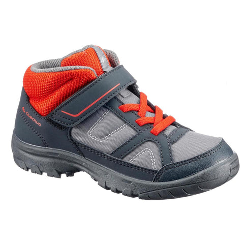 QUECHUA - MH 100 Mid Kids Hiking Boots