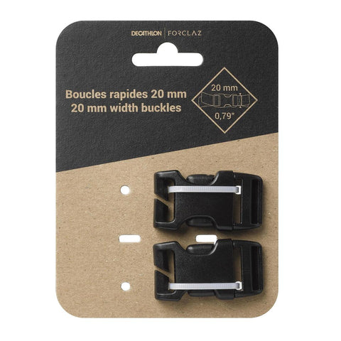 FORCLAZ - X2 Quick Buckles For Hiking Backpacks 20mm