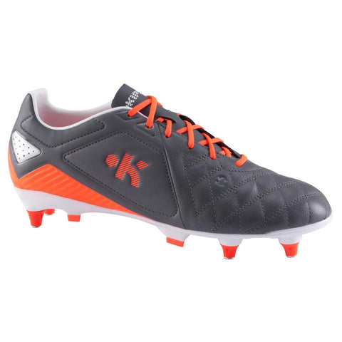 KIPSTA - Adult Soccer Boots Soft Ground - Grey