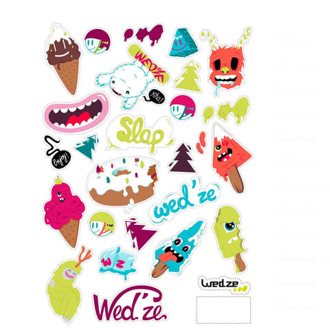 WED'ZE - Girls' Ski Helmet Stickers