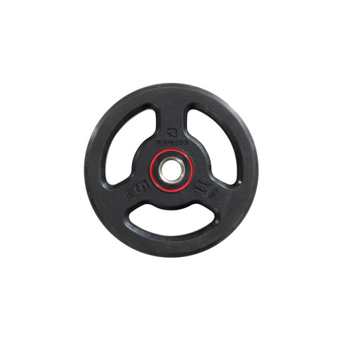 DOMYOS - Rubber Weight Disc With Handles (28mm-5Kg)