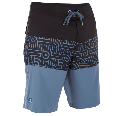 TRIBORD - Guethary Men's Long Boardshorts - Graf Blue