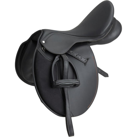 FOUGANZA - Synthia Horse Riding All-Purpose Saddle 17.5
