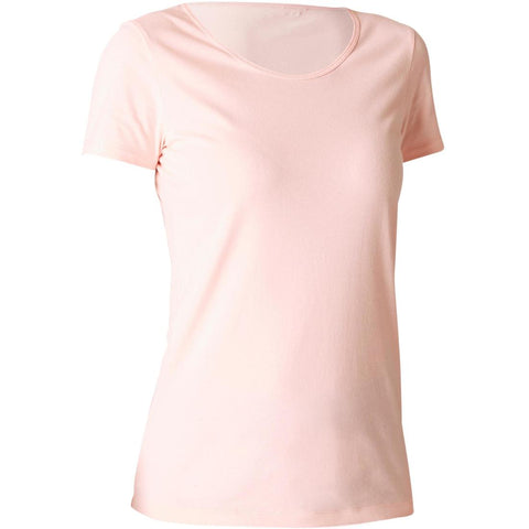 DOMYOS - Women's Short-Sleeve Fitness T-Shirt