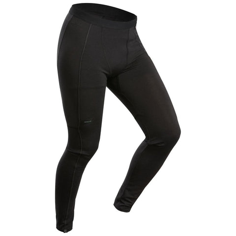 FORCLAZ - Men's Mountain Trekking Merino Tights Trek 500 - black