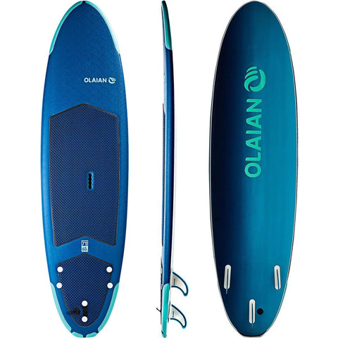 OLAIAN - 500 Foam Surfboard 7' With 3 Fins + Leash