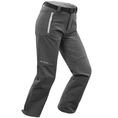QUECHUA - Boys' warm hiking trousers SH500 X-Warm - Age 7 to 15 - Grey