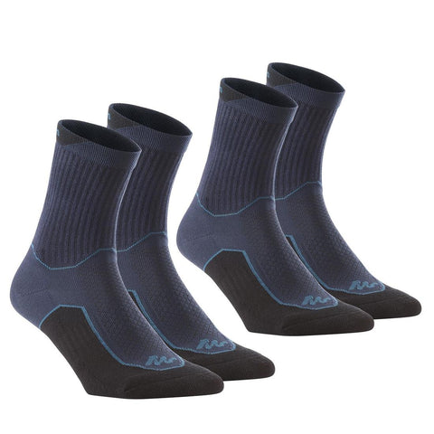 QUECHUA - NH 100 Adult High Hiking Socks 2 Pack