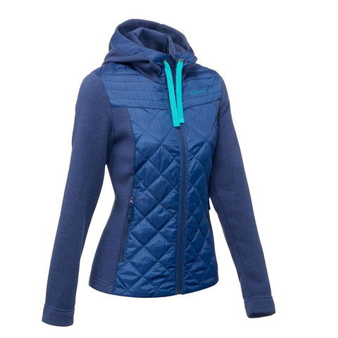 QUECHUA - NH500 Hybrid Women's Hiking Pullover - Ink Blue
