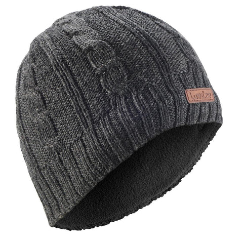 Adult Cable-Stitch Woollen Ski Hat - Grey
