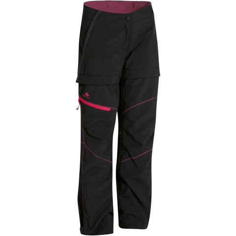 QUECHUA - MH 550 Kids Convertible Hiking Pants