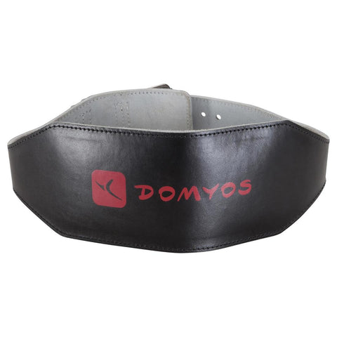 DOMYOS - Leather Weight Training Lumber Belt