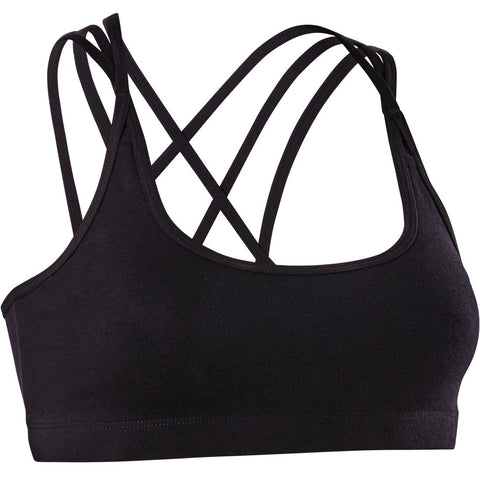 DOMYOS - Women's Modern Dance Crop Top With Crossed Straps