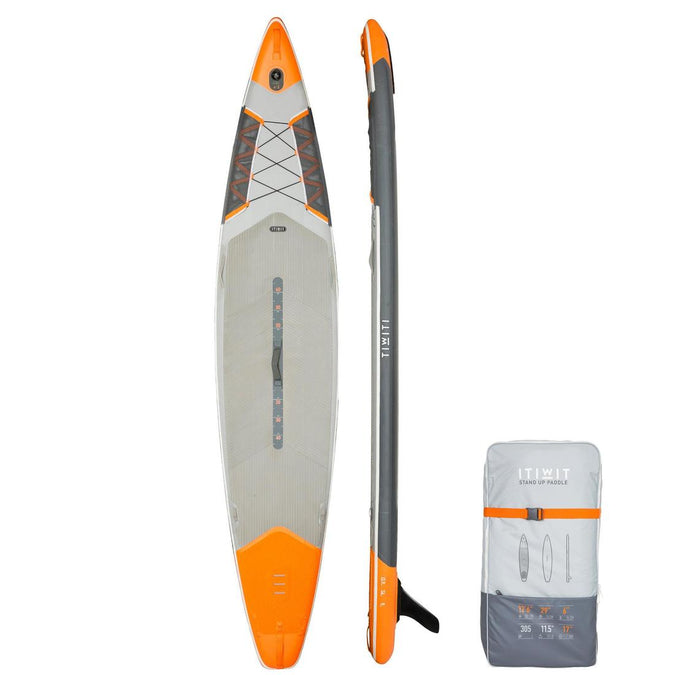 ITIWIT - 500 Inflatable Touring Stand-Up-Paddle Board 12'6-29