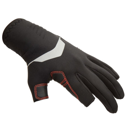 TRIBORD - 500 3 Finger Neoprene Sailing Gloves (1mm)