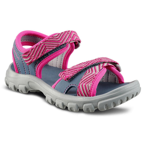 Kids Sandals MH100 - Blue Grey/Pink