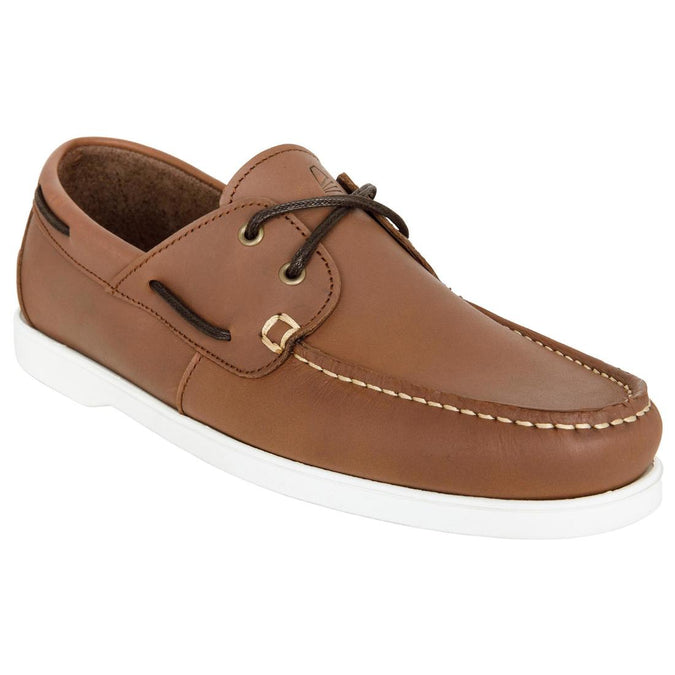 TRIBORD - 500 Men's Leather Non-Slip Boat Shoes, photo 1 of 6